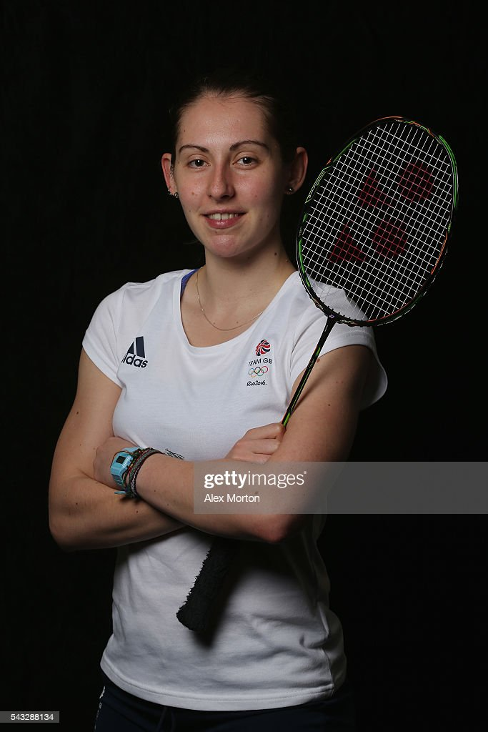 Kirsty Gilmour of Team GB during the Announcement of Badminton Athletes Named in Team GB for the Rio 2016 Olympic Games at the National Badminton Centre on June 27, 2016 in Milton Keynes, England.