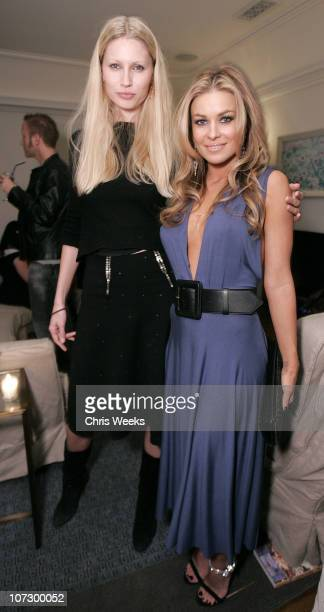 Kirsty Hume and Carmen Electra during Leslie Gardner's Smashing Grandpa Launches New Designs Inspired by 'I'm with the Band Confessions of a Groupie'...