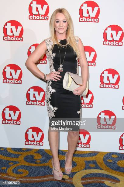Kirsty Leigh Porter attends the TV Choice Awards 2014 at London Hilton on September 8 2014 in London England