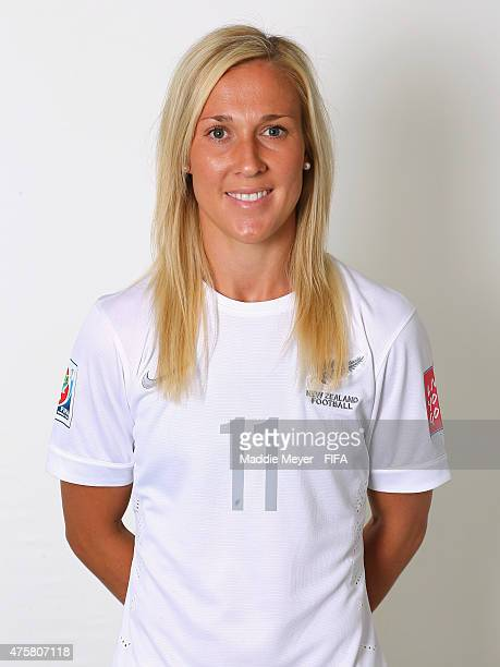 Kirsty Yallop of New Zealand during the FIFA Women's World Cup 2015 portrait session at the Delta Edmonton South on June 3 2015 in Edmonton Canada