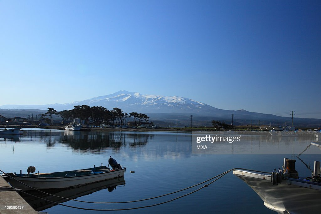 Kisakata Port and Mount Chokai, Nikaho, Akita, Japan