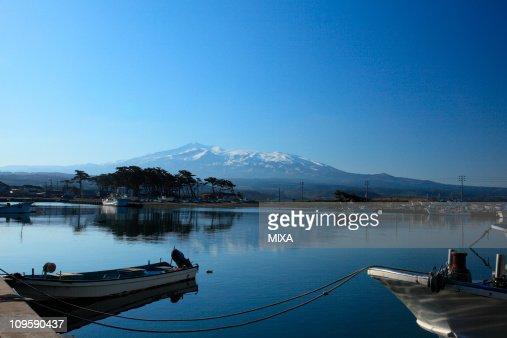 Kisakata Port and Mount Chokai, Nikaho, Akita, Japan