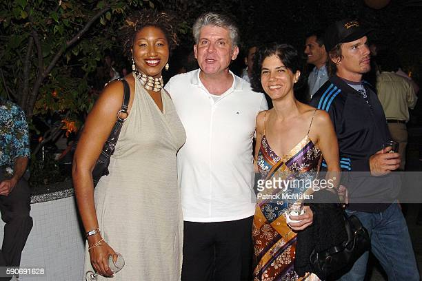 Kisha Cameron John Lyons and Jill Morris attend INTERVIEW MAGAZINE afterparty for the NY Premiere of BROKEN FLOWERS a Film by Jim Jarmusch at The...