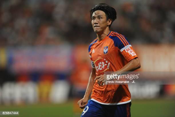 Kisho Yano of Albirex Niigata in action during the JLeague J1 match between Albirex Niigata and Yokohama FMarinos at Denka Big Swan Stadium on August...