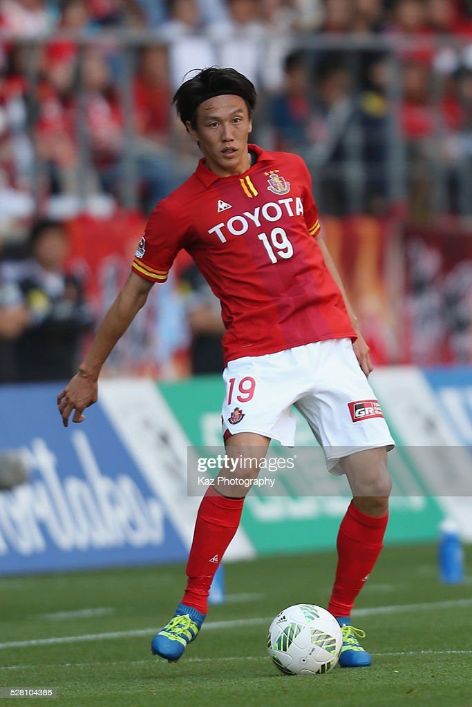<a gi-track='captionPersonalityLinkClicked' href=/galleries/search?phrase=Kisho+Yano&family=editorial&specificpeople=4430794 ng-click='$event.stopPropagation()'>Kisho Yano</a> of Nagoya Grampus in action during the J.League match between Nagoya Grampus and Yokohama F.Marinos at the Toyota Stadium on May 4, 2016 in Toyota, Aichi, Japan.