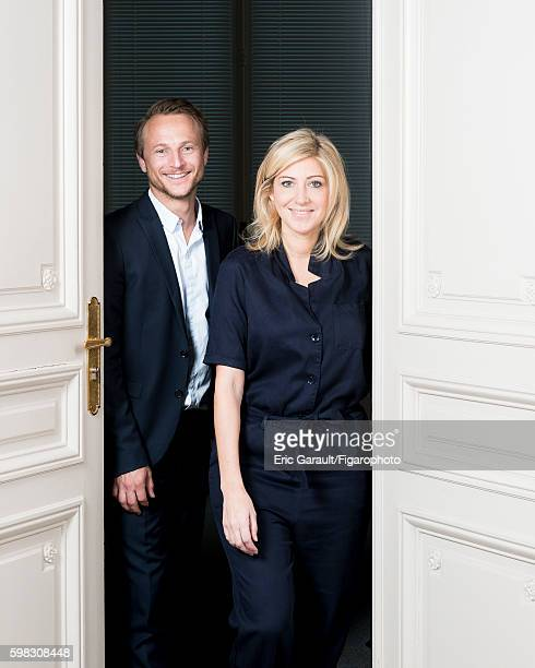 Kiss and Fly fortune cookie creators Marc Beaucourt and Amanda Sthers are photographed for Madame Figaro on July 4 2016 in Paris France PUBLISHED...