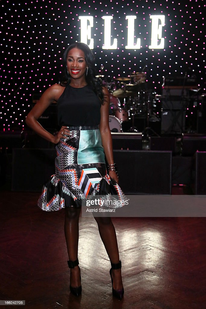 DJ Kiss attends the 4th Annual ELLE Women in Music Celebration presented by Covergirl at The Edison Ballroom on April 10, 2013 in New York City.