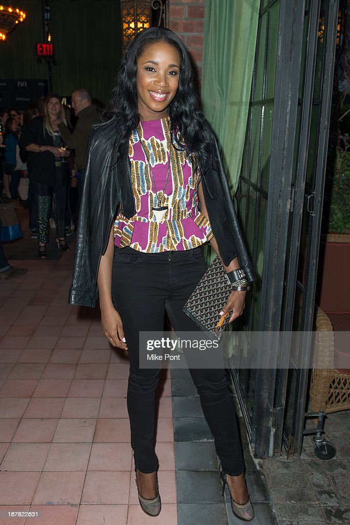 DJ Kiss attends the IVI Launch Party at The Bowery Hotel on April 30, 2013 in New York City.
