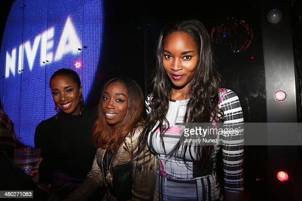 DJ Kiss Estelle and Damaris Lewis attend the Legendary Damons annual LUXXBALL at Marquee on March 23 2014 in New York City