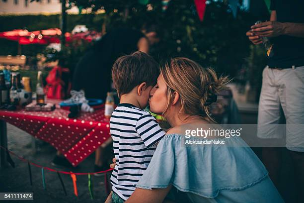 Kiss for a birthday boy