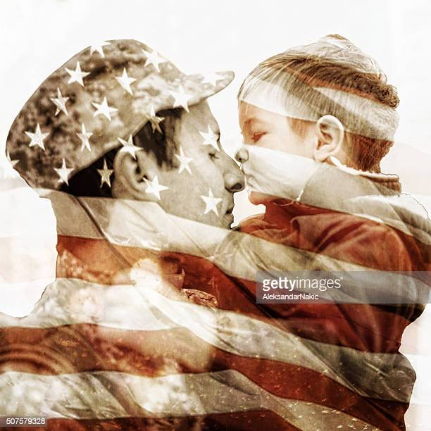 Kiss for a soldier