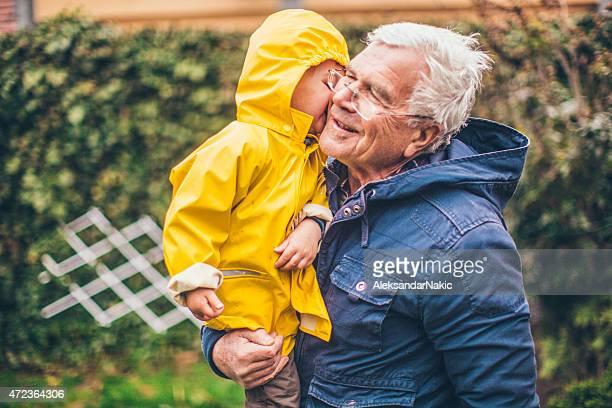 my grandpa キス