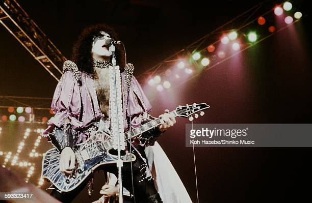 Kiss Gene Simmons and Ace Frehley live at Nippon Budokan Tokyo March 24 1977
