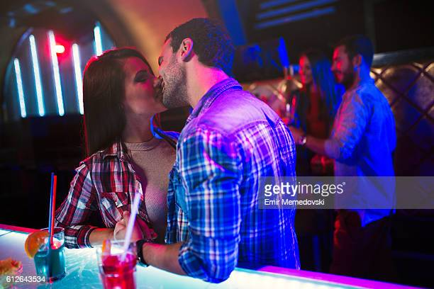 Kiss in nightclub