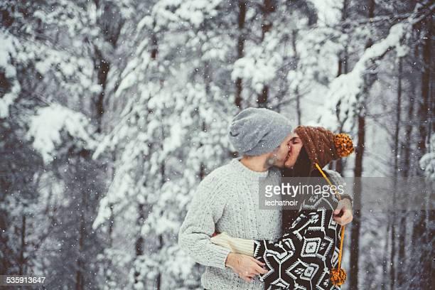 Kuss im Schnee