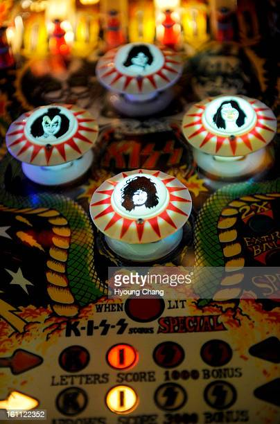 Kiss pinball machine League play is 20 pinballers in Lyons at Lyons Classic Pinball on Friday Hyoung Chang/ The Denver Post