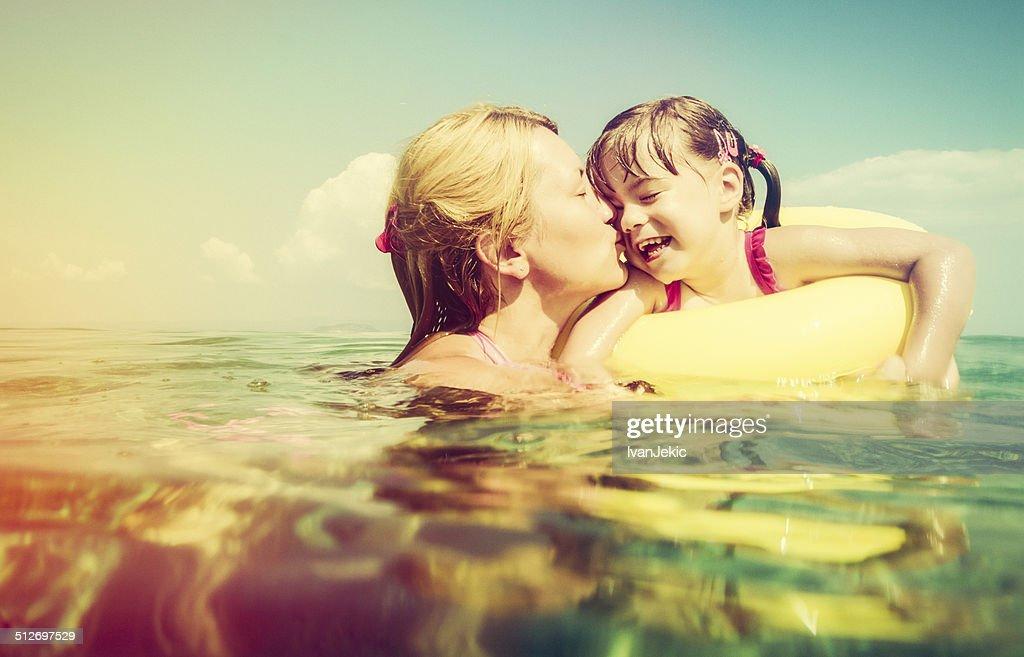 Kisses in water