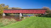West Montrose covered bridge (Kissing Bridge)at West Montrose, Waterloo, Ontario, Canada