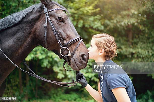 Kissing my Horse, Teenage Girl Portrait