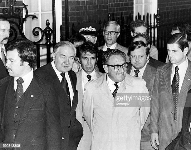 Kissinger is in London to brief the British Leadership on the International situation in particular his negotiations regarding the Rhodesian Bush War...