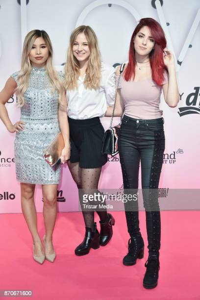Kisu Diana zur Loewen and Luisa Crashion attend the GLOW The Beauty Convention at Station on November 5 2017 in Berlin Germany