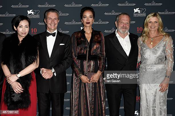 Kit Chan JaegerLeCoultre Ceo Daniel Riedo Carmen Chaplin director Terry Gilliam and Clare Milford Haven attend the JaegerLeCoultre gala event...