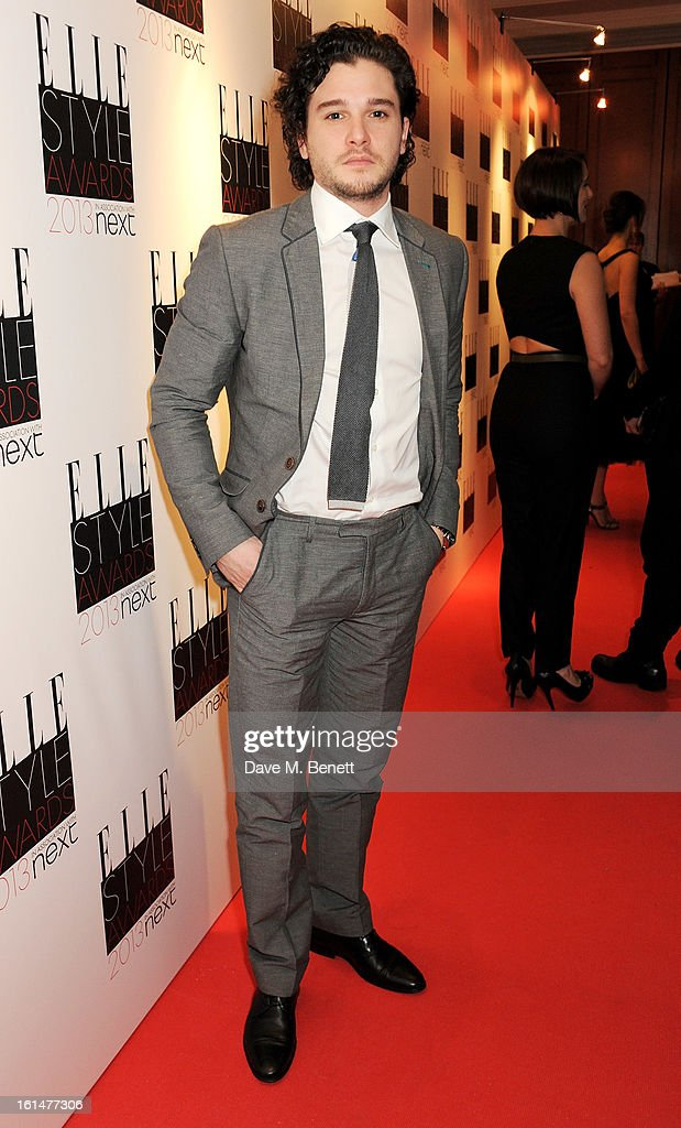 Kit Harington arrives at the Elle Style Awards at The Savoy Hotel on February 11, 2013 in London, England.