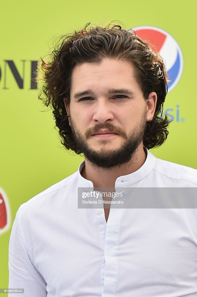 Kit Harington attends Giffoni Film Festival 2017 blue carpet on July 19, 2017 in Giffoni Valle Piana, Italy.