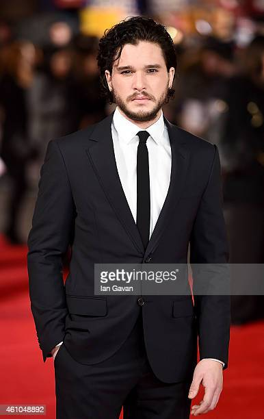 Kit Harington attends the UK Premiere of 'Testament of Youth' at Empire Leicester Square on January 5 2015 in London England