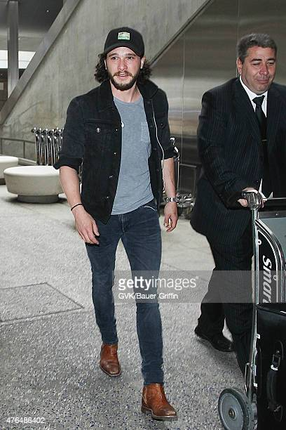 Kit Harington is seen at LAX on June 09 2015 in Los Angeles California