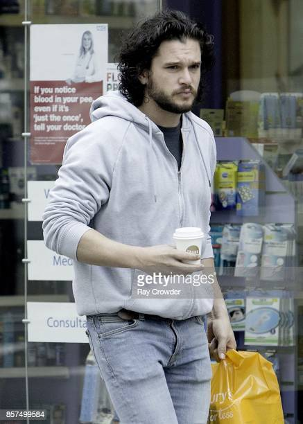 Kit Harington seen shopping in North London on October 4 2017 in London England