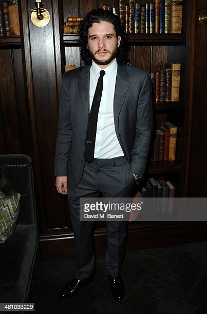 Kit Harrington arrives for the London Collections Men Esquire party at the Rosewood London on January 6 2014 in London England