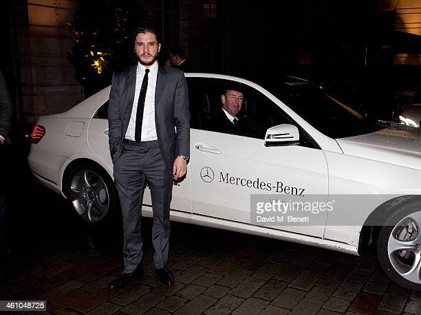 Kit Harrington arrives for the London Collections Men Esquire party at Rosewood London on January 6 2014 in London England