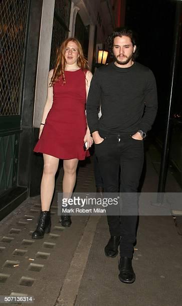 Kit Harrington at the Ivy restaurant on January 27 2016 in London England