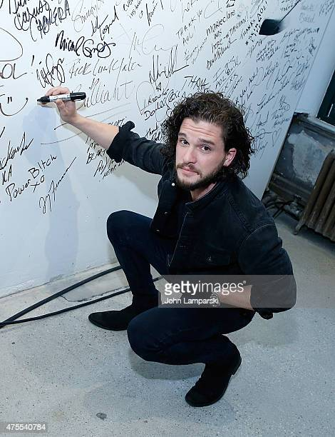 Kit Harrington discusses his new film 'Testament Of Youth' during AOL BUILD Speaker Series at AOL Studios In New York on June 1 2015 in New York City