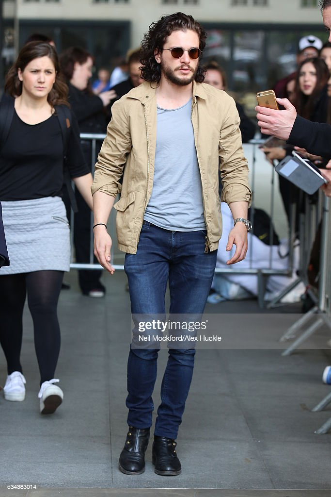 Kit Harrington seen at BBC Radio One on May 26, 2016 in London, England.