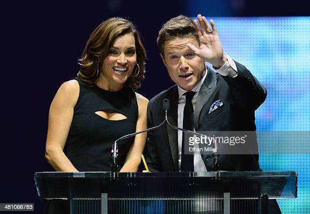 Kit Hoover and Billy Bush host The CinemaCon Big Screen Achievement Awards brought to you by The CocaCola Company during CinemaCon the official...