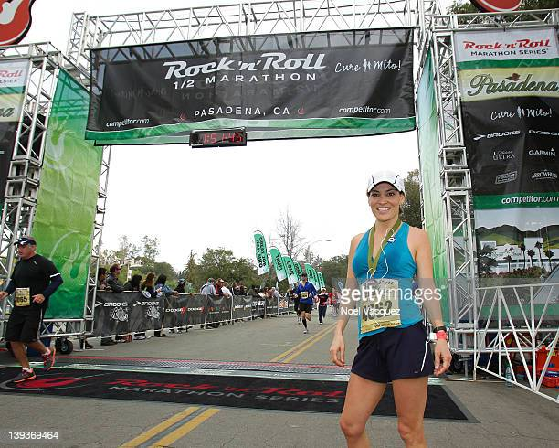 Kit Hoover attends the Rock n' Roll Marathon Pasadena at the Rose Bowl on February 19 2012 in Pasadena California