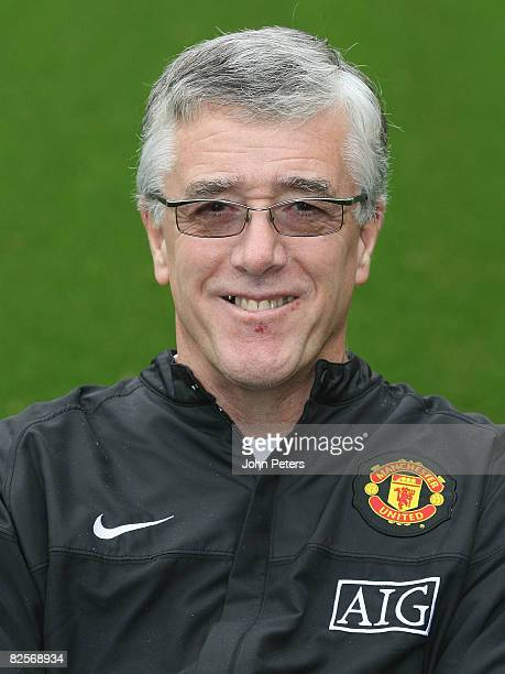 Kit Manager Albert Morgan of Manchester United poses during the club's official annual photocall at Old Trafford on August 27 2008 in Manchester...