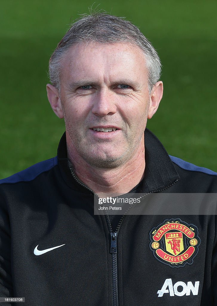 Kit Manager Alec Wylie of Manchester United poses at the annual club photocall at Old Trafford on September 26, 2013 in Manchester, England.