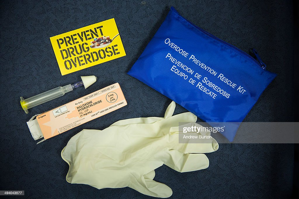 A kit of Naloxone, a heroin antidote that can reverse the effects of an opioid overdose, is displayed at a press conference about a new community prevention program for heroin overdoses in which New York police officers will carry kits of Naloxone, on May 27, 2014 in New York City. The New York Police Department is being provided 19,500 kits for officers; the program will begin after officers receive training. The Naloxone is administered nasally.