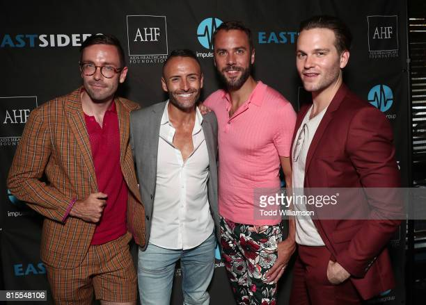 Kit Williamson Impulse Group Founder Jose Ramos John Halbach and Van Hansis attend the 'EastSiders' Premiere And After Party At Outfest on July 15...