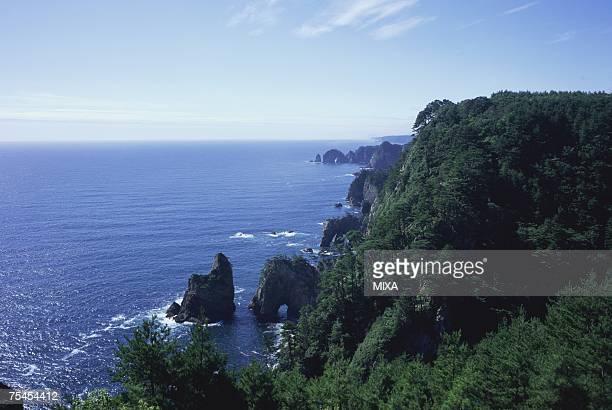 Kitayamazaki cliffs in Iwate Prefecture, Japan