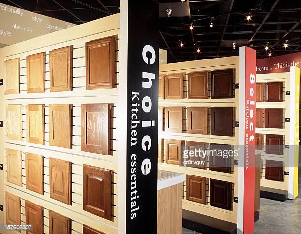 Portas do armário de cozinha Interior de Sala de exposição