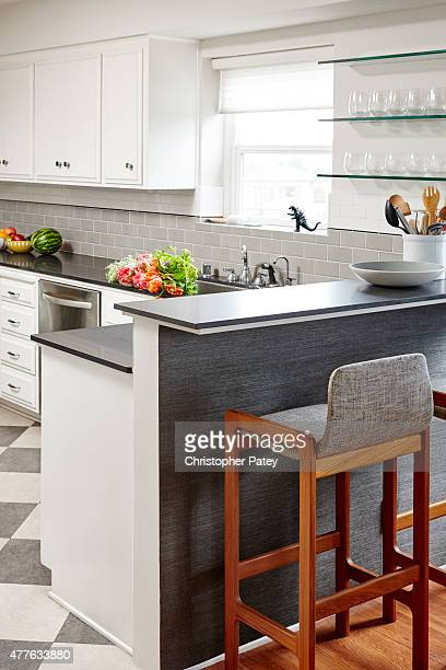 Kitchen decor details of actress Michaela Conlin's home are photographed for Domaine Home on April 23 2015 in Los Angeles California