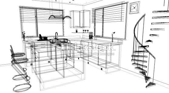 3 D Dise O Cad Cocina Con Un Programa De Software Foto De - Software ...