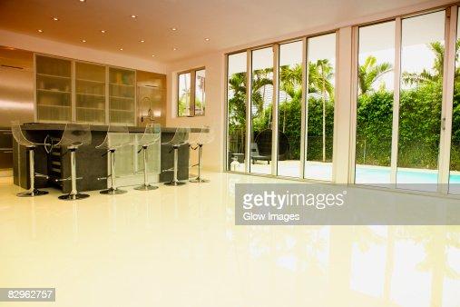Kitchen in a studio apartment : Stock Photo