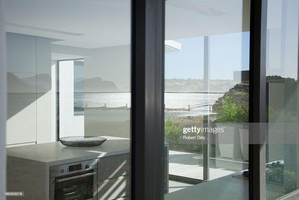 Kitchen in modern house : Stock Photo