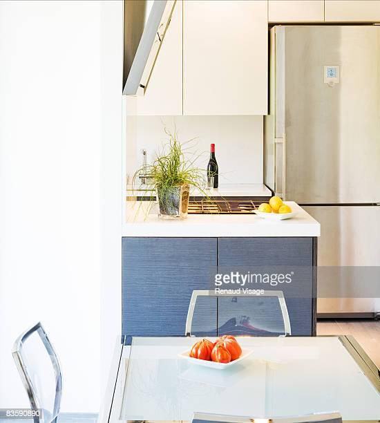 Kitchen in modern residential apartment