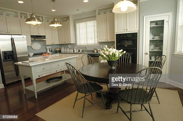 A kitchen in the Katonah design model home in Martha Stewart's Twin Lakes Community is shown March 9 2006 in Cary North Carolina The kitchen is set...